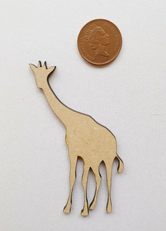 Laser Cut Wood MDF Giraffe  - Craft, Zoo Animals - Sawfish Laser