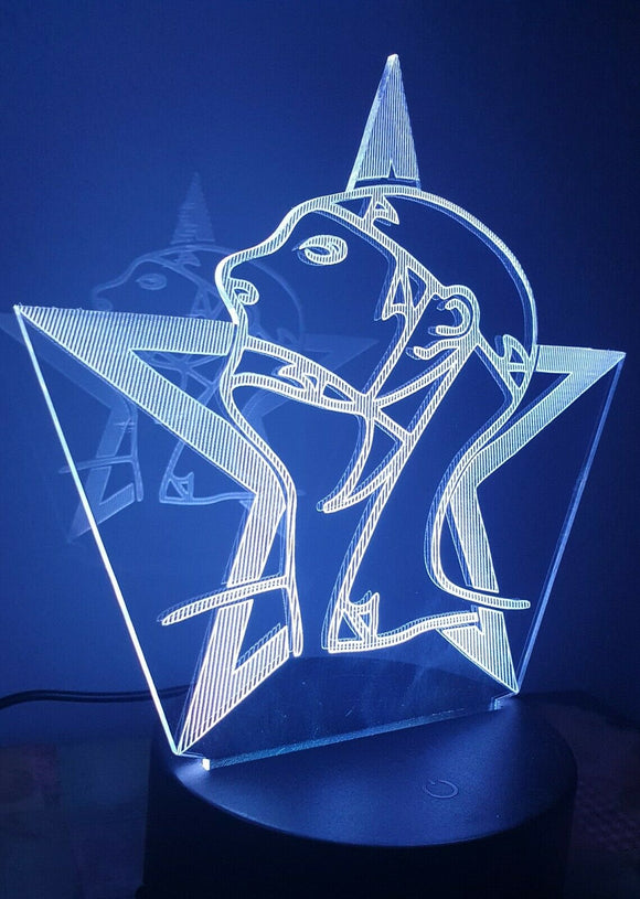 Laser Engraved LED Desk Light Sisters Of Mercy Merciful Release Goth - Sawfish Laser
