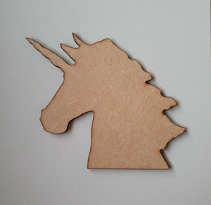 Laser Cut Wood MDF Unicorn, pack of 5, 40mm - 100mm - Craft, Home Decor, fantasy - Sawfish Laser