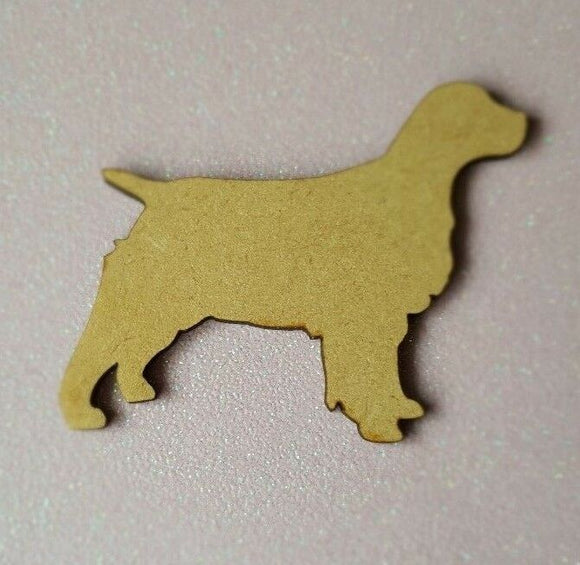 Laser Cut Wood MDF Dog Spaniel Retreiver Shape - Craft, Rustic, Christmas, - Sawfish Laser