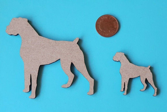 Wooden MDF Dog Boxer Shape - craft, mixed media - laser cut - any size - Sawfish Laser