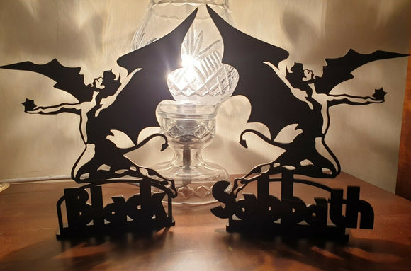 Laser Cut Black Perspex Black Sabbath Image Plaque Sign Heavy Metal NWOBHM - Sawfish Laser