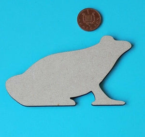 Laser Cut Wood MDF Frog Shape  - Craft, Rustic - Sawfish Laser