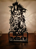 Laser Cut Black Perspex MDF Iron Maiden Image Plaque Sign Eddie The Ed NWOBHM - Sawfish Laser