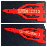 Laser Cut & Engraved Perspex  Thunderbirds 1, 2 or 3 Keyring - Novelty, Gift, - Sawfish Laser