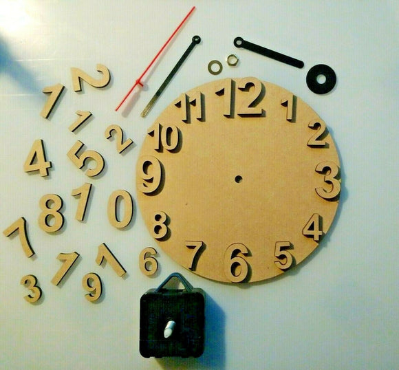 MDF Circle  Wall Clock & movement for craft, decoupage, decopatch and pyrography - Sawfish Laser