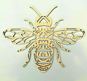 Laser Cut Wood MDF Intricate Bee -  195mm, Craft