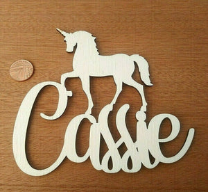 Laser Cut MDF Wood Unicorn Names Rustic Decor Farmhouse Country - Sawfish Laser
