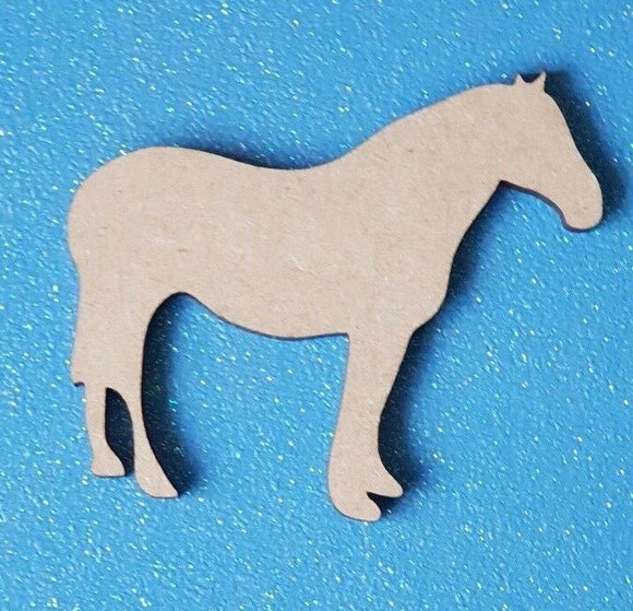 Laser Cut Wood MDF Pony Horse Shape - Personalised - Craft, Rustic, Christmas, - Sawfish Laser