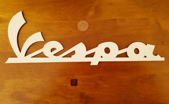 Laser Cut MDF Poplar Vespa Lambretta words Craft, Mod, Retro Scrapbooking Rustic - Sawfish Laser