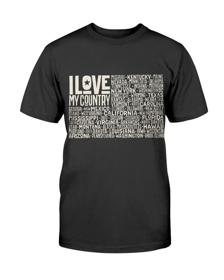 I Love My Country Word Flag - K9 Worldwide