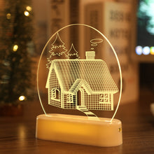 Load image into Gallery viewer, LED Fairy String Lights Battery USB 3D Santa Claus Tree Acrylic Night Light Wedding Christmas Decoration for Home Room Garland