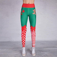 Load image into Gallery viewer, Yoga Christmas Print Hip High Waist Fitness Yoga Pants