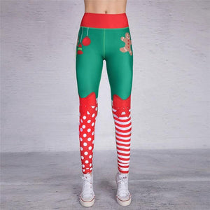 Yoga Christmas Print Hip High Waist Fitness Yoga Pants