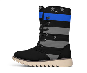Thin Blue Line Polar Boots