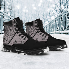 Load image into Gallery viewer, Classic Gray Bandana Black Out All Season Boots