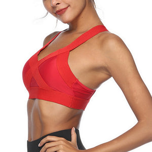 Women Sports Bra Sexy Mesh Brathable Sports - keitshop