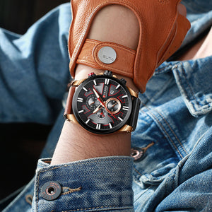 CURREN Watch Chronograph Sport Mens Watches Quartz Clock - keitshop