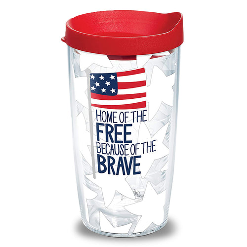 Home Of The Free 16oz Tervis Tumbler