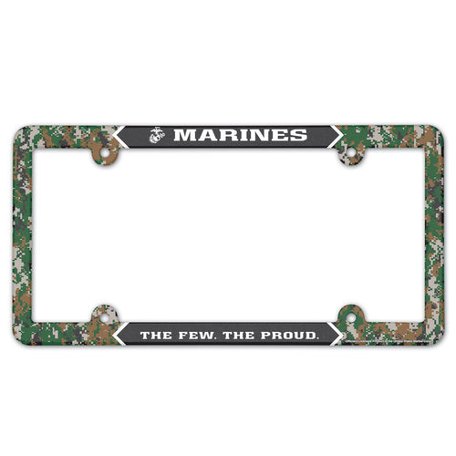 Marines The Few The Proud Digi Camo License Plate Frame
