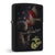 USMC American Flag Soldier EGA Black Matted Zippo Lighter