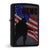 USMC Outlined USA Flag Black Matted Zippo Lighter