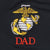 Marines EGA Dad Under Armour Performance 1/4 Zip (Black)