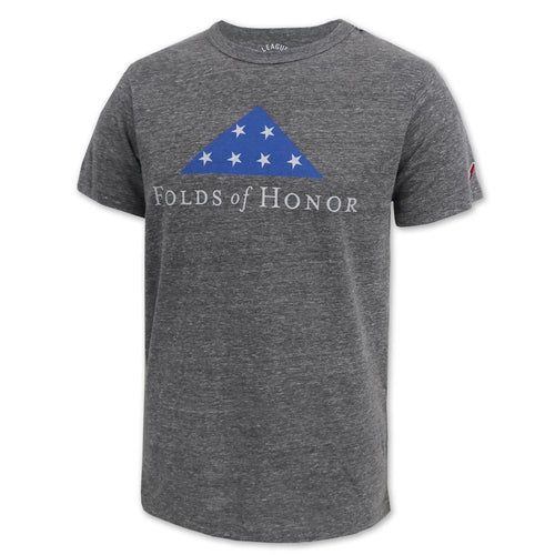 FOLDS OF HONOR TRI-BLEND T-SHIRT (HEATHER GREY) 1