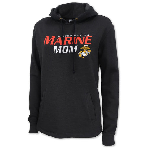 LADIES UNITED STATES MARINE MOM HOOD (HEATHER BLACK) 1