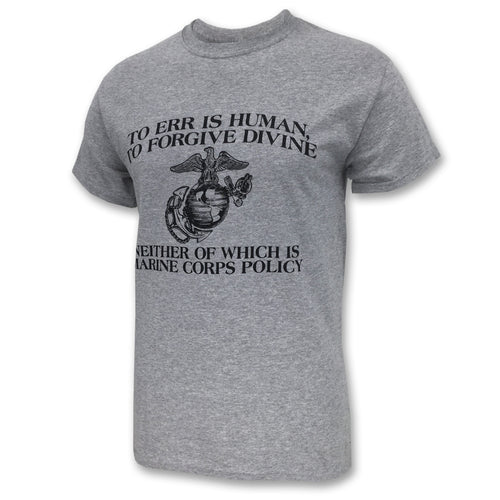 MARINE CORPS ERR IS HUMAN T-SHIRT 2