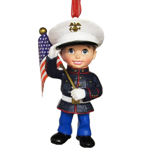 MARINE CORPS KID ORNAMENT 2