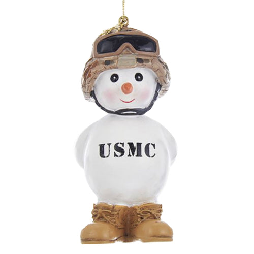 MARINE CORPS SNOWMAN WITH BOOTS ORNAMENT 2