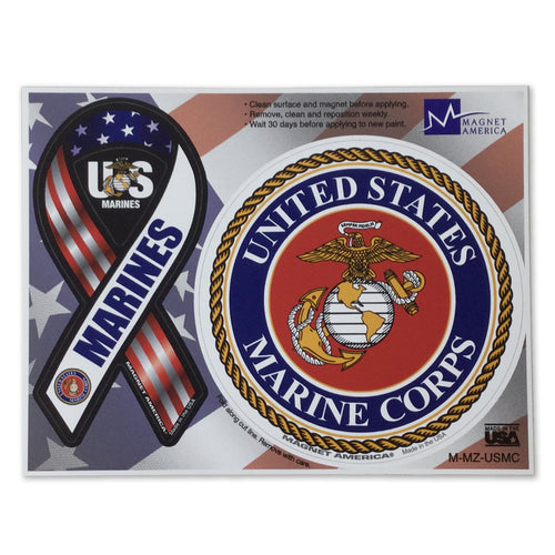 MARINES 2 IN 1 RIBBON AND SEAL MAGNET