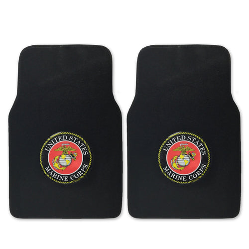 MARINES 2 PIECE CAR MATS 2