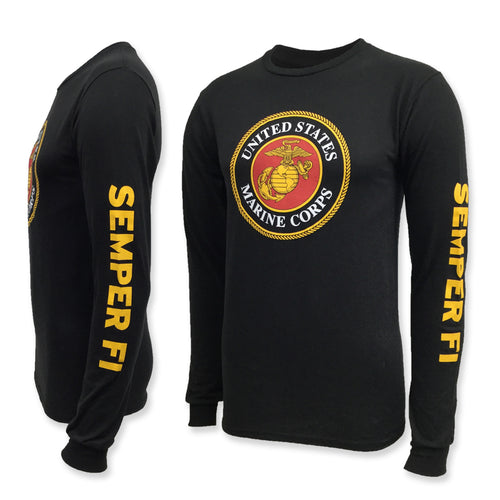 MARINES CIRCLE LOGO LONGSLEEVE T-SHIRT (BLACK) 9