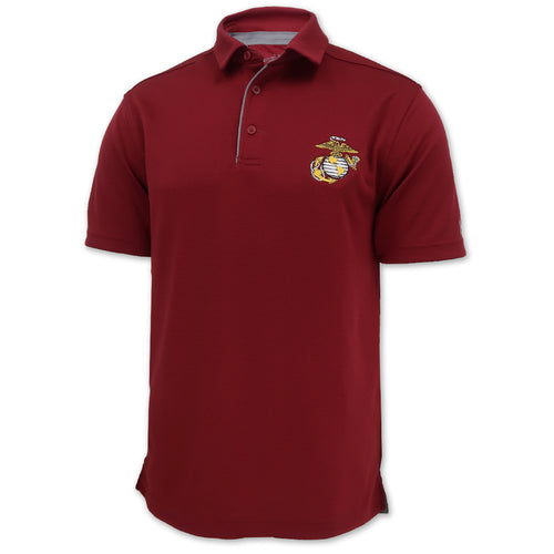 MARINES EGA UNDER ARMOUR TECH POLO (CARDINAL) 1