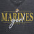 MARINES GIRL LADIES LOOSE FIT V-NECK T-SHIRT (BLACK)