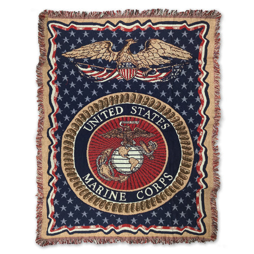 MARINES KNIT BLANKET (50