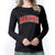 MARINES LADIES ARCH SCOOP NECK LONG SLEEVE T-SHIRT (BLACK) 2
