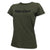 MARINES LADIES LOGO CORE T-SHIRT (OD GREEN)