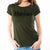MARINES LADIES LOGO CORE T-SHIRT (OD GREEN) 2