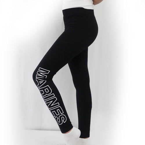 MARINES LADIES LOVE 'EM LONGER LEGGINGS (BLACK) 3
