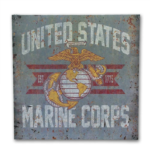 MARINES LARGE VINTAGE SIGN 2