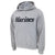 MARINES LOGO HOODED SWEATSHIRT (GREY) 2