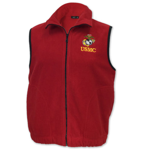 MARINES MICROFLEECE VEST (RED)