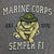 MARINES RETRO T-SHIRT (GRAPHITE) 1