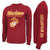 MARINES THE FEW THE PROUD LONG SLEEVE T (CARDINAL)