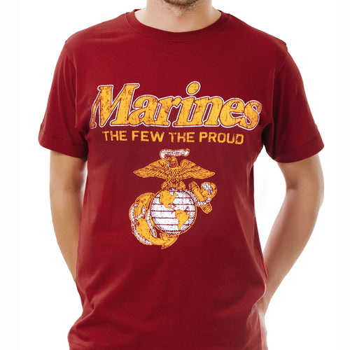 MARINES THE FEW THE PROUD FADED T (CARDINAL) 3