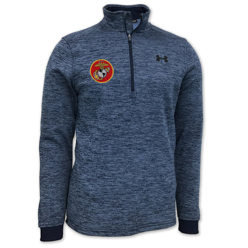 MARINES UNDER ARMOUR ARMOUR FLEECE 1/4 ZIP (NAVY)
