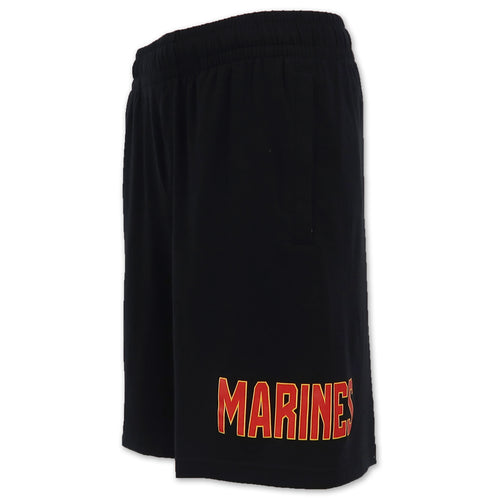 Marines Under Armour Cotton Jersey Shorts (Black)